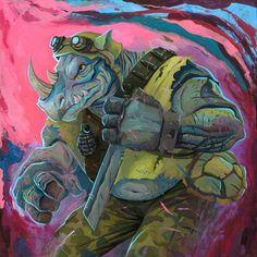 Rich Pellegrino Art and Illustration Ninja Turtles Art, Teenage Mutant Ninja Turtles, Bebop And Rocksteady, Arte Nerd, Portraits, Geek Art, Cartoon Styles, Tmnt, Comic Art