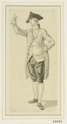 Paul Sandby A standing young man circa 1770 Pencil and wash Human Sketch, History Of England, Drawing Sketches, Drawings, 18th Century Clothing, Figure Reference, Grisaille, Working People, Male Figure