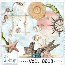 Vol. 0013 - Beach Mix  by Doudou's Design  #CUdigitals cudigitals.com cu commercial digital scrap #digiscrap scrapbook graphics