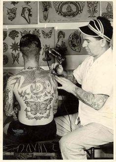 obi-kenobii:  Bert Grimm (1900-1985), american tattoo artist.