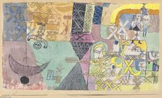 'Asian entertainers', Crayon by Paul Klee (1879-1940, Switzerland)