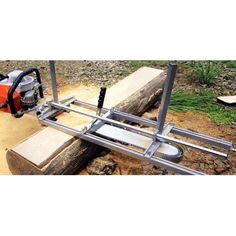 Portable Chainsaw Mill Planking Milling to Guide Bar Wood Cutting Sawmill Aluminum Steel Image 1 of 11 Portable Chainsaw Mill, Custom Bbq Pits, Chainsaw Bars, Steel Image, Wood Mill, Wood Lumber, Logging Equipment, Planking, Milling