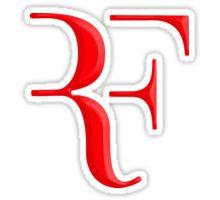 rf, roger federer, roger, federer, tennis, wimbledon, grass, tournament, ball, legend, sport, australia, nadal, net, cool, logo, perfect. Sticker