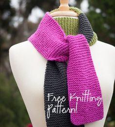 Easy Knitting Idea | NobleKnits: Ewe Ewe Scarf Free Knitting Pattern