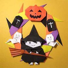 Kransje voor Halloweenheks