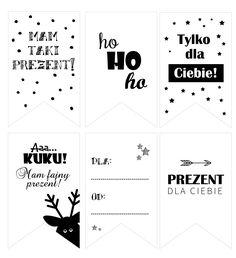 DIY: zawieszki etykiety na prezenty do wydruku