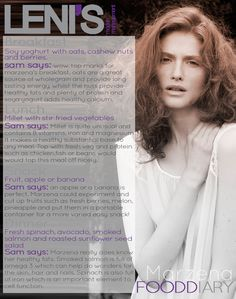 Leni's Model Management Model Food Diaries: MARZENA Model Diet, Food Diary, Diaries, Management, Training, Change, Dinner, Healthy, Dining