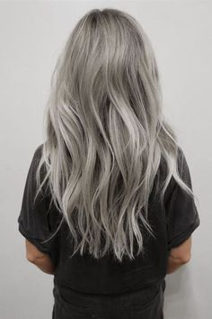 Lovely Gray Hair for Long Hair - Pastel Hairstyle Ideas