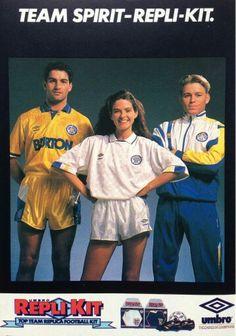 Leeds Utd kits from Umbro in Football Ads, Leeds United Fc, Sir Alex Ferguson, Football Fashion, Soccer Kits, Women's World Cup, European Football, Old Ads, Jersey Shirt