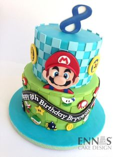 nintendo cake ideas * nintendo cake - nintendo cake ideas - nintendo cakes for boys - nintendo cake easy - nintendo cake zelda - nintendo cake pops Bolo Do Mario, Bolo Super Mario, Super Mario Birthday, Mario Birthday Party, 8th Birthday, Mario Party, Mario Birthday Cake, Birthday Ideas, Mario Kart Cake