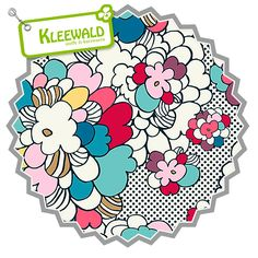 Pop Art Springblossom // Baumwolljersey by Art Gallery