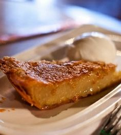 Pair a light acidic sorbet with this rich buttermilk pie. Photograph by Chris Leaman At Bar Pilar, chef Justin Bittner experiments with a globe's worth of flavors such as Asian beans and rice with pickled pork as well as. Pie Recipes, Sweet Recipes, Dessert Recipes, Southern Recipes, Easy Desserts, Delicious Desserts, Yummy Food, Yummy Treats, Sweet Treats