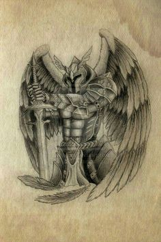 Seven Advice That You Must Listen Before Embarking On Guardian Angel Tattoo Drawings Angel Warrior Tattoo, Guardian Angel Tattoo, Warrior Tattoos, Viking Tattoos, Angel Tattoo Drawings, Angel Tattoo Designs, Tattoo Sketches, Knight Tattoo, Armor Tattoo