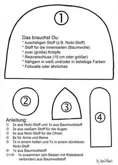 Patroon Sorgenfresser - Zorgenvriendje  Bastelbär: Bastelanleitungen