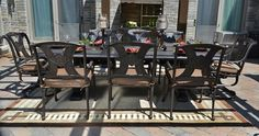 The Amalia Collection 8-Person Cast Aluminum Patio Furniture Dining Set new for Fall.