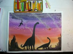 Silhouettes - Dinosaur Art Project