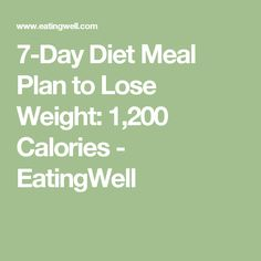 Diet Meal Plan to Lose Weight: 1200 Calories (Page - EatingWell Diet Meal Plans To Lose Weight, Lose Weight Quick, Diet Plans To Lose Weight, Reduce Weight, Losing Weight, Free Diet Plans, 7 Day Diet, Low Cholesterol Diet, Healthy Diet Recipes