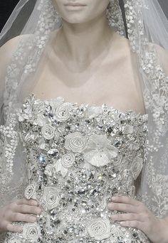 Elie Saab Haute Couture Spring/Summer V Bling Wedding, Glitter Wedding, Dream Wedding, Wedding Day, Wedding Castle, Destination Wedding, Wedding Photos, Elie Saab, Bridal Gowns