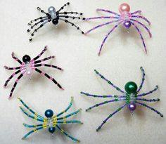 Beaded spiders