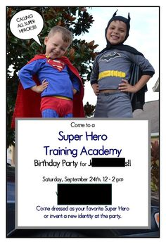 Want to throw a Superhero Training Academy Birthday Party?    We just threw this party for my 6 year old and was a hit!!  My oldest son lov...