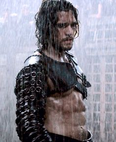 Milo in the rain <3 :) Pompeii movie