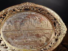 1933 1934 Worlds Fair Chicago Souvenir Pin Tray Vintage Oval Trinket Dish Fort Dearborn German Airship Graf Zeppelin Airplane Cityscape by Misinterpreted on etsy