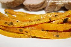 Oven carrot fries with ginger, garlic and parsley Carrot Fries, Parsley, My Recipes, Carrots, Garlic, Oven, Banana, Fruit, Vegetables
