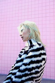 Wild Stripe Faux Fur Coat, Parallel Lines Dress