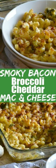Copious amounts of comfort food is just what the Doctor ordered for a cold Winter's night. Cozy right on up to a big ol' bowl of this Smoky Bacon Broccoli Cheddar Mac & Cheese.