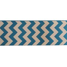 IN STOCK  Turquoise chevron printed ribbon by craftyshackofla, $1.10