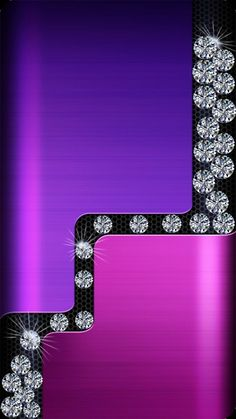 By Artist Unknown. Purple And Gold Wallpaper, Glittery Wallpaper, Diamond Wallpaper, Bling Wallpaper, Flowery Wallpaper, Love Wallpaper, Samsung Galaxy Wallpaper, Cellphone Wallpaper, Iphone Wallpaper