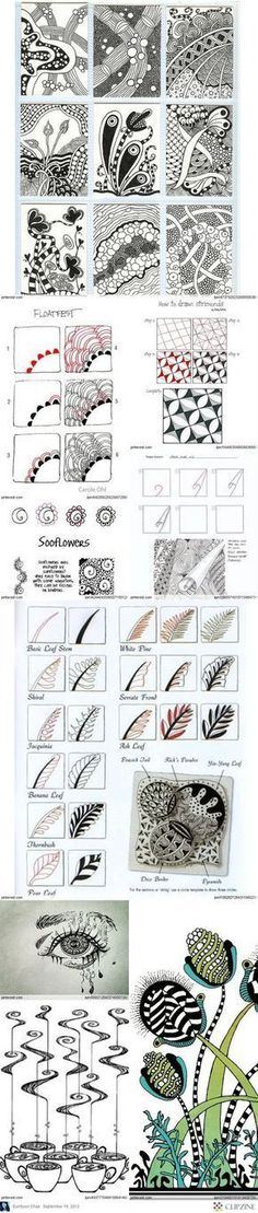 Zentangle patterns and ideas - Zentangle - #Zentangle - hand drawn art - zentangle patterns