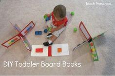 DIY Toddler Board Books from Teach Preschool