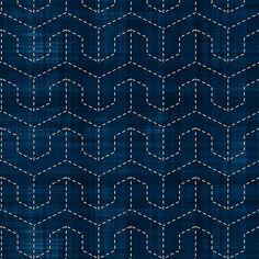 Sashiko: Mukai-Kikko - Faced tortoise shell fabric by bonnie_phantasm on Spoonflower - custom fabric