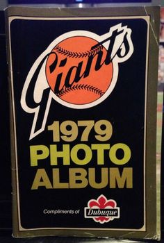 1979 San Francisco Giants Baseball Photo Album Booklet By Dubuque