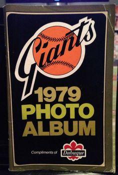 1979 San Francisco Giants Baseball Photo Album Booklet By Dubuque