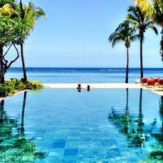 Hilton Resort and Spa pool in Mauritius