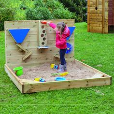 Outdoor Wooden Sand Wall A fantastic addition to any outdoor play area, a brilliant resource for investigation and outdoor play. Kids Backyard Playground, Backyard For Kids, Playground Sand, Toddler Playground, Sand Pits For Kids, Outdoor Play Spaces, Diy Outdoor Toys, Outdoor Toys For Kids, Kids Play Area