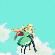 Sky Walking, Howl's Moving Castle, Hayao Miyazaki