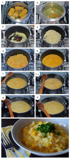 Risoto de milho verde - como fazer. #receita #passoapasso #pitadapalpitada