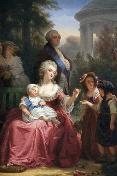 A painting of Louis XVI and Marie Antoinette in the Gardens of Versailles, by Charles Louis Lucien Muller. (Image: Leemage/UIG via Getty Images) Louis Xvi, Marie Antoinette, Kaiser Franz, French Royalty, Cool Baby Names, Maria Theresa, Stylish Couple, French History, Royals
