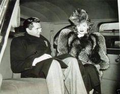 Desi Arnaz & Lucille Ball on their wedding day 1940