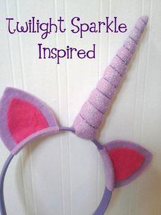 Purple Unicorn Headband by PlaytimeProps on Etsy