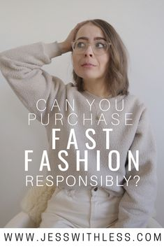 Can you be a conscious shopper and still buy fast fashion? Fast Fashion Brands, Ethical Fashion Brands, Ethical Clothing, Sustainable Clothing, Sustainable Fashion, Sustainable Products, Sustainable Living, Slow Fashion, Vegan Fashion
