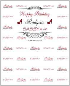 HAPPY BIRTHDAY BIRDGETTE STEP & REPEAT BANNER 24821 - SIGN11.COM