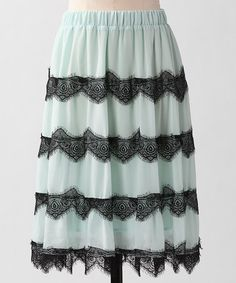 Take a look at this Skylight Miss Romance Skirt by Down East Basics on #zulily today!