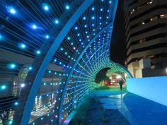 X-LED Light solutions - Rainbow Bridge LongBeach  #xled #brücken #LED #lighting #leddesign