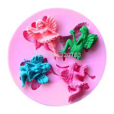 1PCS Four Fairy Shape Silicone Mold, For Fondant Cake Mold ...