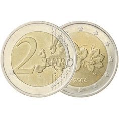 Suomi 2006/2007 2 € Virhelyönti World Coins, Coin Collecting, Finland, Euro, Bronze, Personalized Items, Stamps, Notes, Silver