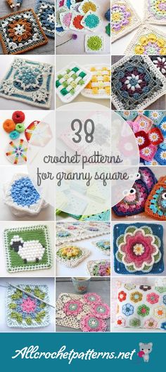 Allcrochetpatterns.net has the largest collection of free and premium Granny Square crochet patterns. Click now and discover wonderful crochet patterns!